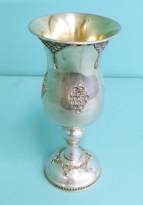 Antique Large 925 Sterling Silver Goblet Cup Kos by Achsaf 188.3g {ML2871}