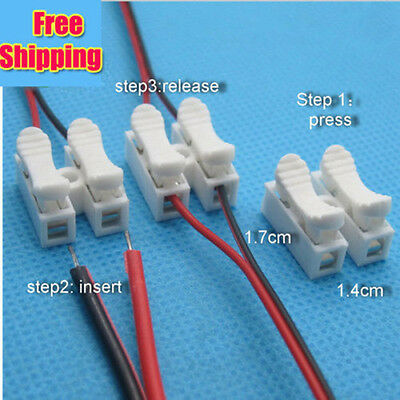 50pcs Self Locking Electrical Cable Connectors Quick Splice Lock Wire Terminals