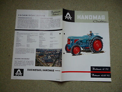 HANOMAG Combitrac   Brilliant 42 PS  Robust 42/50 PS  Original altes Prospekt