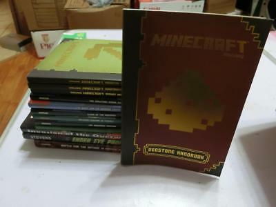 LOT 13 MINECRAFT MOJANG HANDBOOKS , Unofficial Adventures Lost Journals