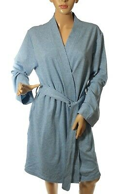 fbcb4fdeacb Charter Club Foggy Heather Blue French Terry Kimono Robe Size L and XXL