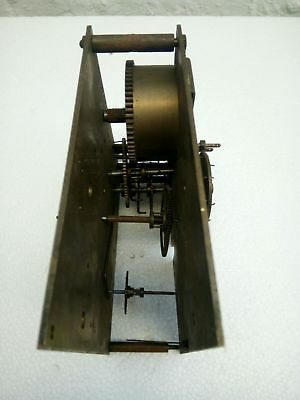 Antique Vintage Wurttemberg Brass Clock Movement - Spares / Repairs