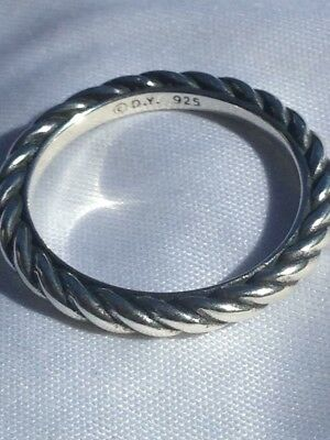 DAVID YURMAN Sterling Silver Cable Classics Band Ring Size 7