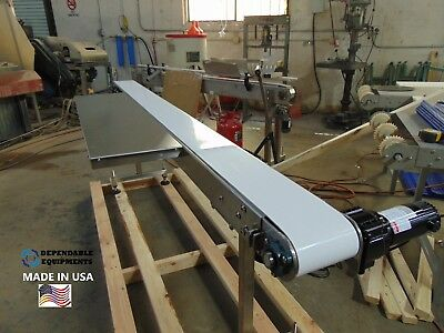"""NEW SS CONVEYOR 8' x 6"""" -TABLE TOP SANITARY BELT AND  WORK STATION-MADE IN USA"""
