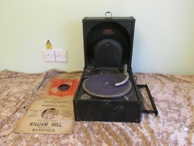 Vintage Early Patent Pending  DECCA No66 Portable Gramaphone