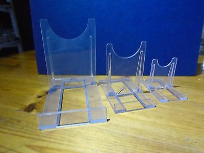 Adjustable plastic display stand, plate, tablet/ipad, photo, phone (SCRATCHED)