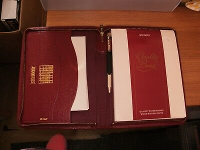 w h smith writing case with watermarked stationery 10 00