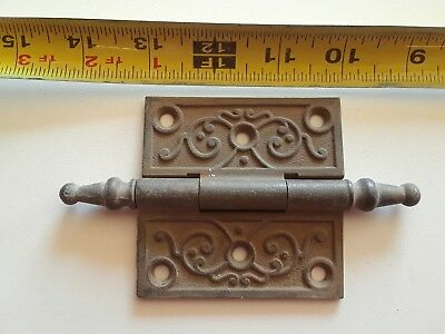 Antique cast iron hinge.  3x3.  Steeple tip