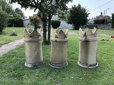 Victorian Crown Chimney Pots - 3 Available