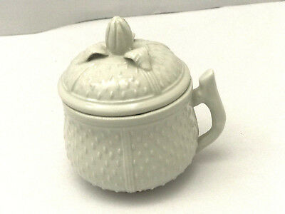 Covered Tea Cup, Wedgewood Type Covered Tea Cup, Strawberry Shaped Covered Cup
