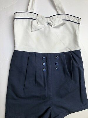 Janie and Jack Girl's Sailor Romper - 5T