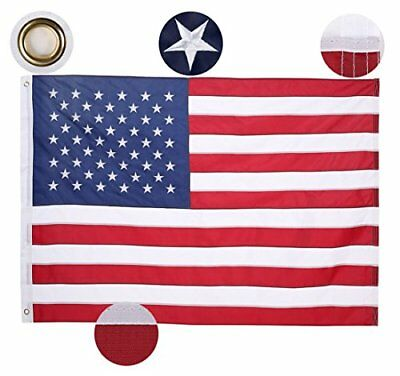 American Flag 2x3 ft.  UV Protected Heavyweight Oxford Nylon Outdoor 2 by 3 Foot