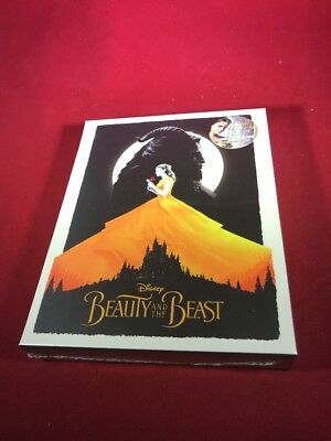 Disney's BEAUTY AND THE BEAST 2D + 3D Blu-ray STEELBOOK BLUFANS FULL SLIP