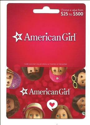 American Girl Dolls Gift Card No $ Value Collectible