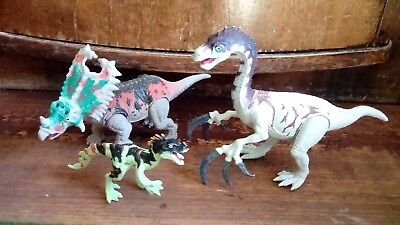 Lot of three Toy Dinosaurs Chap Mei, Collect, green, grey,