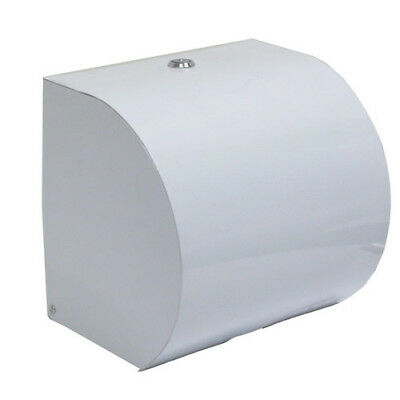 White ABS Plastic Paper Hand Roll Towel Dispenser ONLY -  FREE POSTAGE