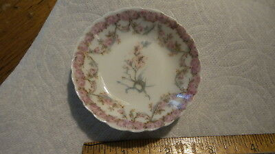 Antique Haviland Limoges China BUTTER PAT Small Pink Floral, France