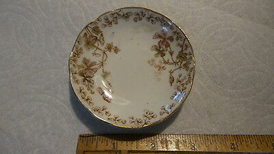 Antique Aesthetic Movement  BUTTER PAT Henry Alcock, Brown Floral