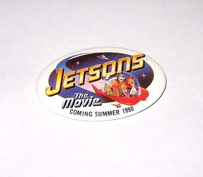Rare Vintage 1990 Jetsons The Movie Promo Button #1 Astro Leroy Pin Universal Tv