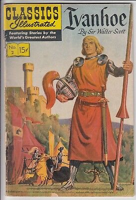 Classics Illustrated #2 HRN 149 Ivanhoe Very Good