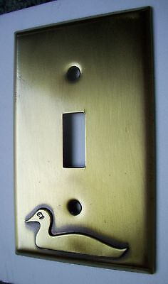 Light Switch Plate Cover  Brass Single Toggle -DUCK DECOY DESIGN