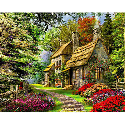 DIY Oil Painting Pain By Numbers Kit on Canvas Wall Art Pictures - houseinspring