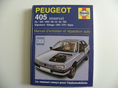 revue technique automobile RTA manuel HAYNES PEUGEOT 405 essence ref 1769