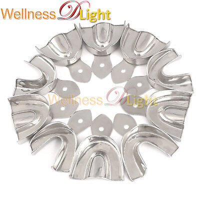 Wdl 10 Dental Impression Tray Set Solid Denture Instruments Stainless Steel New