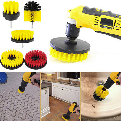 Electric Drill Brush Grout Power Scrubber Cleaning Brush Tub Cleaner Tool