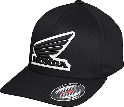 Fox Racing Honda Flexfit Hat-Black-S//M 21109-001-S//M
