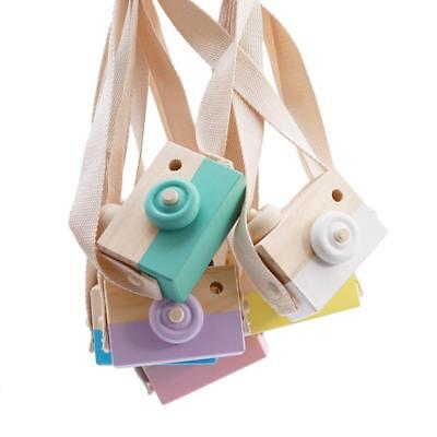 Wooden Toy Camera Kids Natural Wood Gift Baby Children Photography Hanging Decor