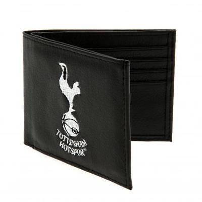 Tottenham Hotspur F.C Black Embroidered Club Crest Wallet Official Merchandise