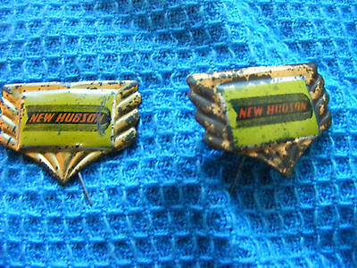 Lot of 2 New Hudson  motorcycle very old lapel,hat pin badges.