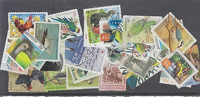 AUSTRALIA-30 X AUSTRALIAN BIRD STAMPS-USED-$3-freepost