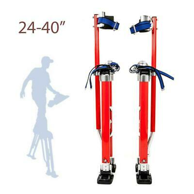 "New Drywall Stilts Painters Walking Finishing Tools - Adjustable 24"" - 40"" Red"