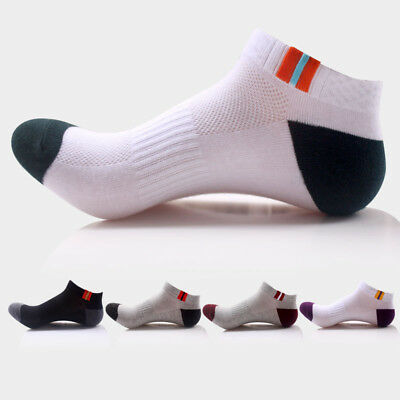 5/10 Pairs Mens Ankle Low Cut Sports Running Cycling Crew Cotton Casual Socks