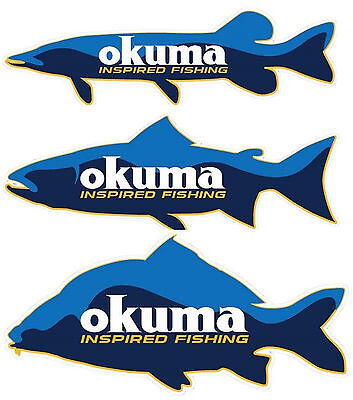 Okuma Inspired Fishing Sticker Pike/Salmon / Carp Stickers for Car Boot Wall