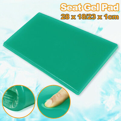 Soft Gel Pad Seat Green Trapezoidal Cooling Cushion Mat Motorcycle Sofa Chair