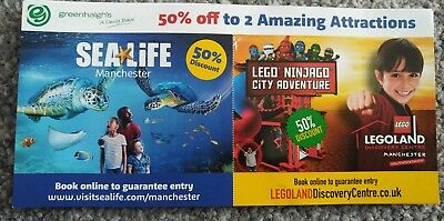 SEA LIFE and Lego Land Manchester. 50% off to 2 attractions.Valid till31/12/2018