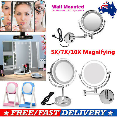 LED Lighted Magnifying Makeup Mirror Double Size Vanity Mirror Cosmetic Tools