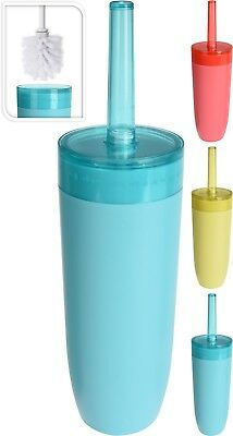 Funky Plastic Bathroom Toilet Brush Holder With Toilet Brush Set Free Standing