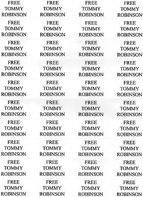 1,000x FREE TOMMY ROBINSON indoor stickers FREEDOM OF SPEECH MOVEMENT - PROTEST
