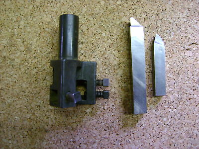 Brown & Sharpe No 00 Tool Holder, Turret Lathe, Boring Mill, Two HSS Included