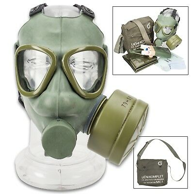 Serbian M1 Gas Mask - Authentic Military Issue - Includes Original Accessories