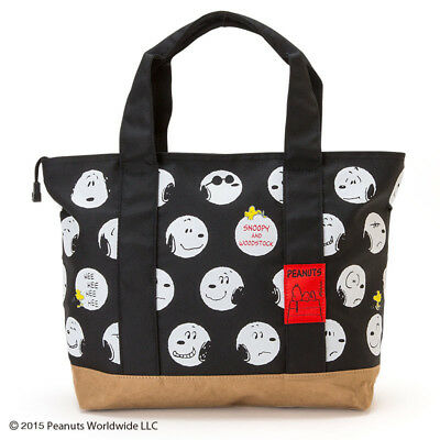 Japan Snoopy Peanuts 65Th Anniversary Canvas Handbag Tote Bag 791486