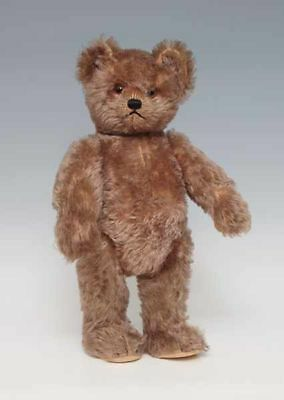 orig. SCHUCO Teddy - Yes-No Mechanik -Teddy 50er Jahre, zimtfarbener Mohair