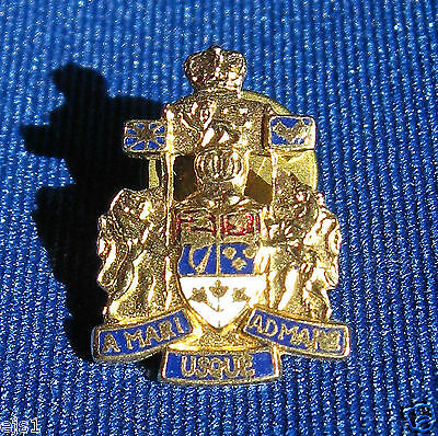 "Canadian Motto Lapel Pin/""A Mari Usque ad Mare""/From Sea to Sea"