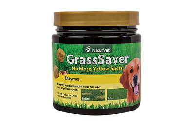 NaturVet GRASSSAVER Soft Chews Jar with Enzymes for Dogs 120 count