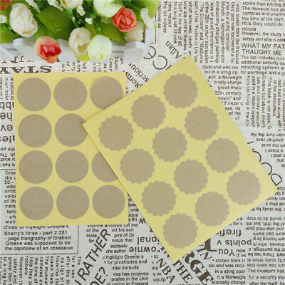 120pcs/lot Round Blank Kraft Paper Lables Seal Stickers Gifts Wrapping TagsD0W