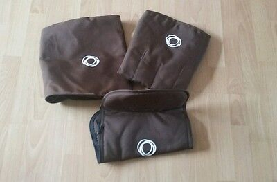 Bugaboo cameleon 1, 2 and 3 brown canvas fabric set Hood, apron and seat cover#.
